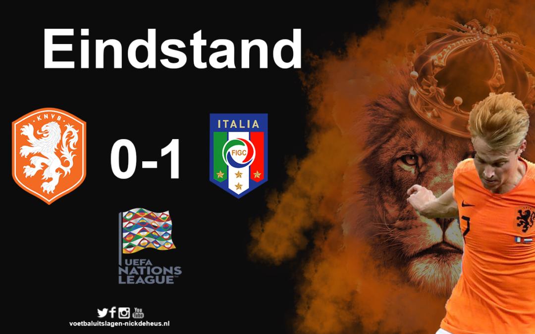 Nederlands elftal krijgt voetballes van Italië in tweede duel Nations League