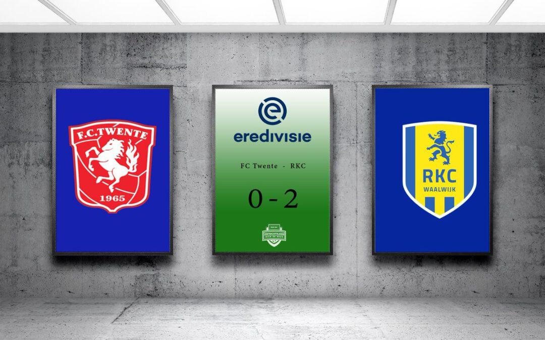Teamprestatie regio club RKC Waalwijk bezorgt FC Twente tweede nederlaag van het seizoen.