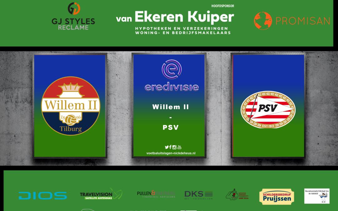 PSV weer op de tweede plek na eenzijdig duel in Tilburg