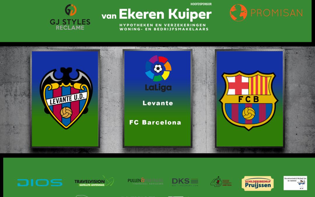 Barcelona vergeet koppositie te pakken door gelijkspel tegen Levante