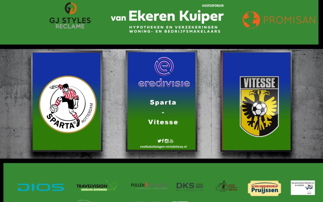 Uitstekend Sparta hijgt Twente in de nek met overwinning op Vitesse