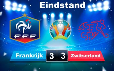 Zwitserland wint Na bloedstollende wedstrijd van topfavoriet Frankrijk na  penaltyserie