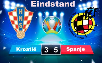 Spanje na spektakelstuk tegen Kroatië door naar kwartfinale