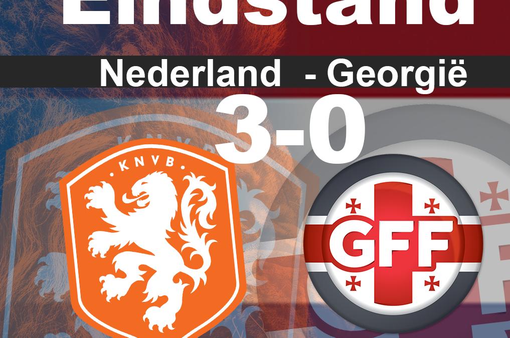 Nederland wint met 3-0 van Georgië maar overtuigend wederom niet
