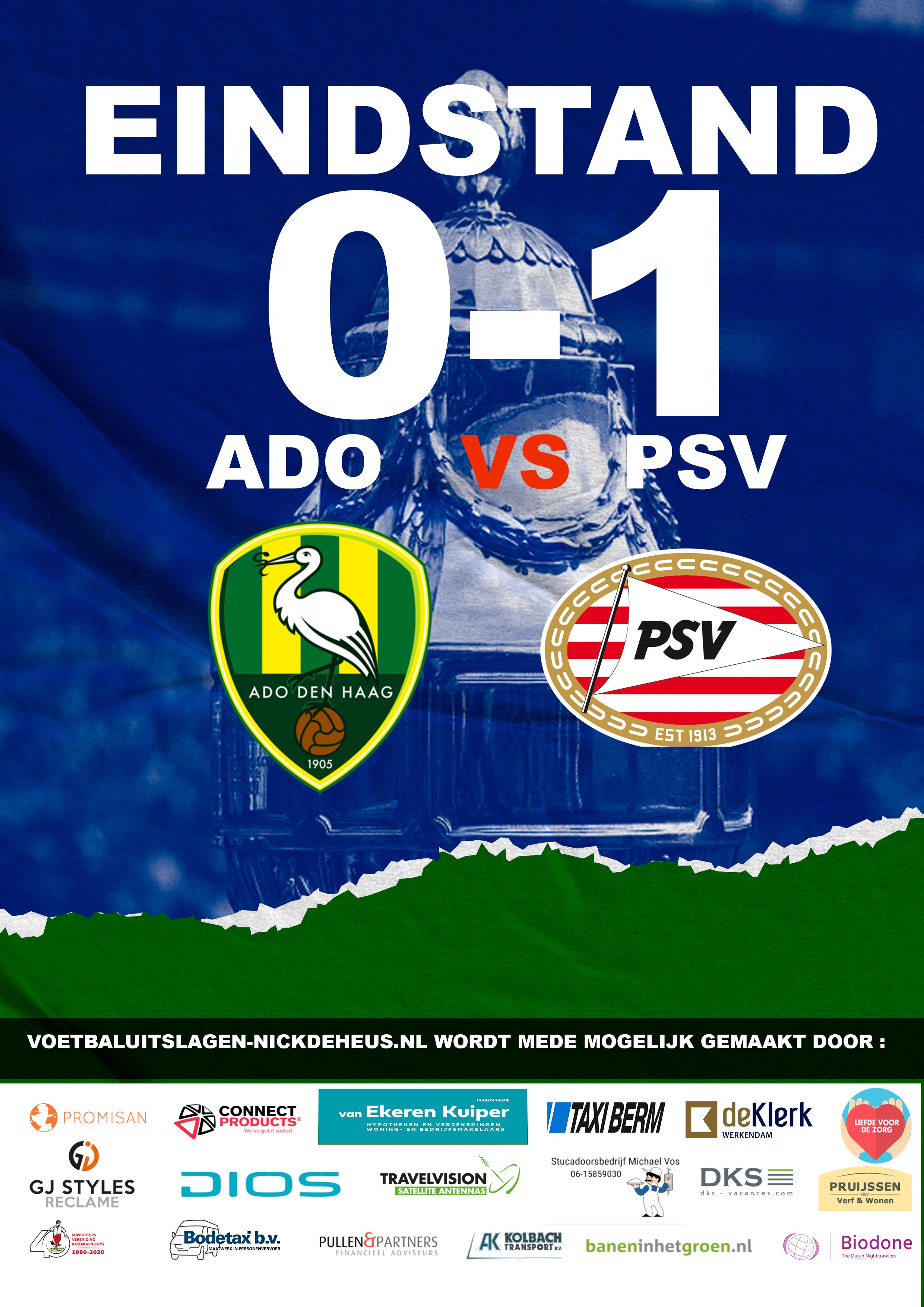 ADO Den Haag doet zichzelf te kort in vrouwen  beker finale en ziet PSV  eerste prijs pakken.