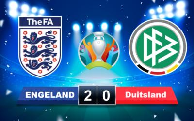 Engeland verslaat rivaal Duitsland en mag zich opmaken voor kwartfinale