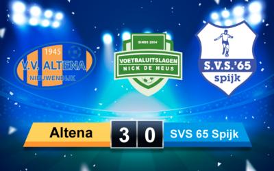 Altena – SVS 65 Spijk een matig oefenduel voornamelijk in het teken van elkaar weer zien tijdens amateurvoetbalwedstrijd