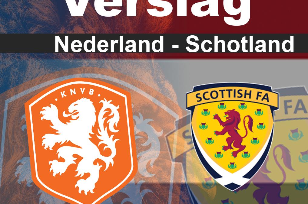Nederland speelt gelijk tegen gehavend Schotland