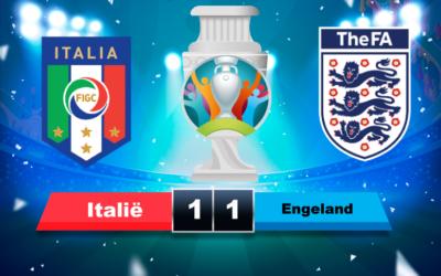 Italië Europees kampioen ten koste van Engeland na fantastische EK finale met  Strafschoppenreeks als toetje