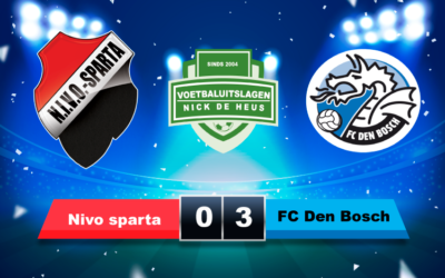 oefenduel Nivo Sparta – FC Den Bosch opnieuw groot succes