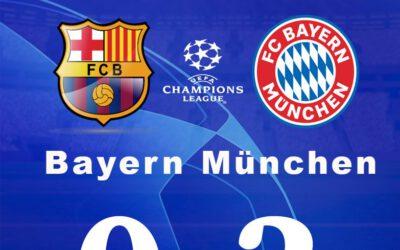 onmachtig Barcelona verliest van Dominerend Bayern München
