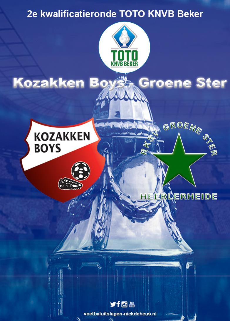 Sterk Kozakken Boys overtuigend naar Hoofdtoernooi TOTO KNVB na zege op Groene Ster